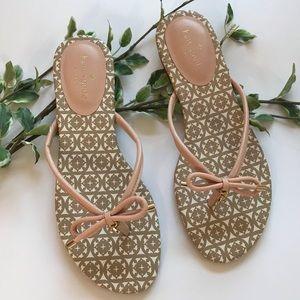 Kate Spade Mistic Bow Flip Flop Sandals Pink NWOT